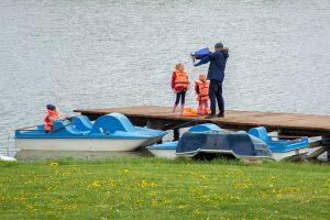 Rowery wodne z dziecmi